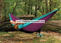 Two Person Sleeping Hammock Made From Parachute Material With Straps Sky Blue Purple